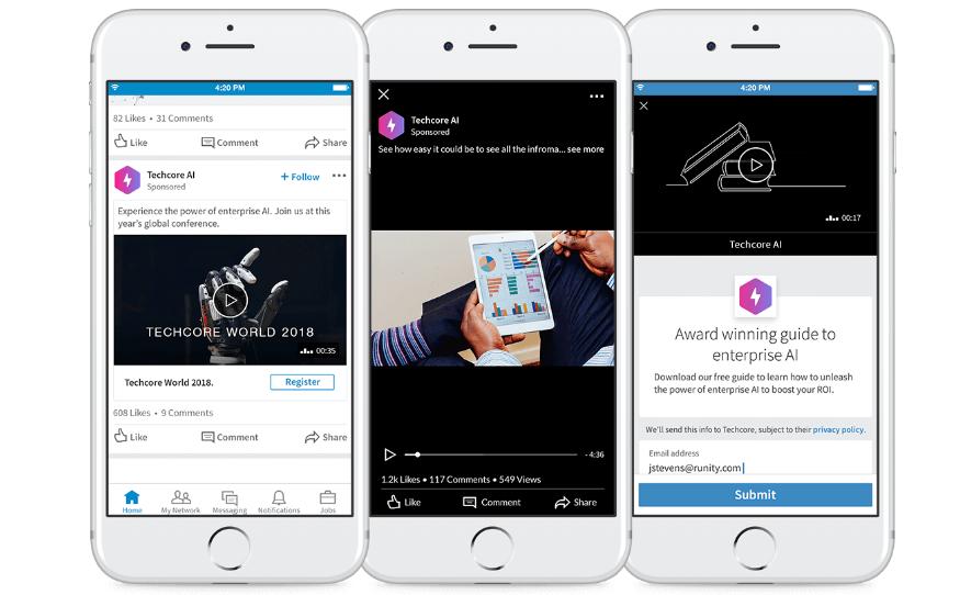 linkedin video ads on mobile