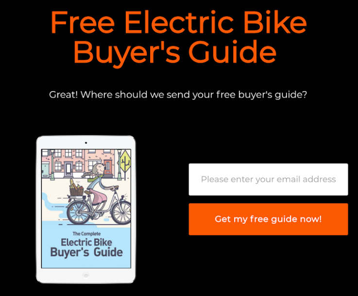 electric bike downloadable offer from ecommerce seller