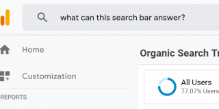 google analytics intelligence search bar.