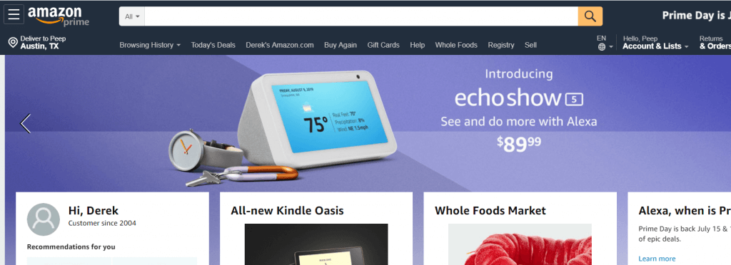 amazon search bar.