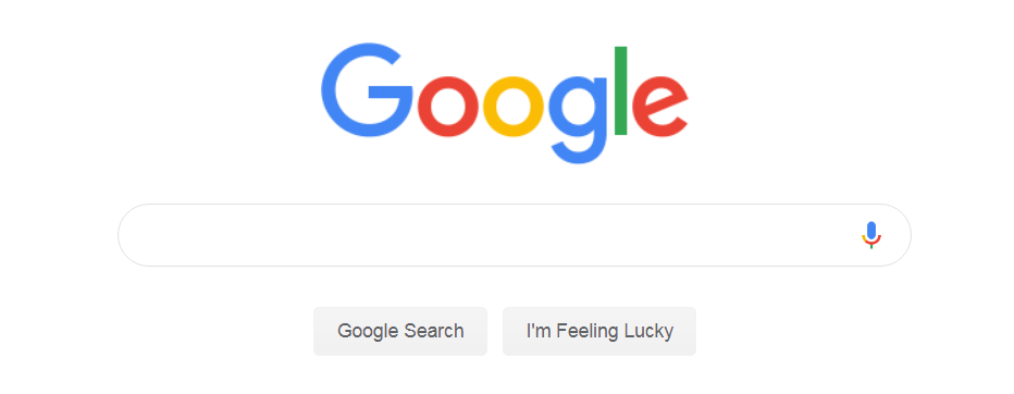 google homepage as an example of intuitive design.