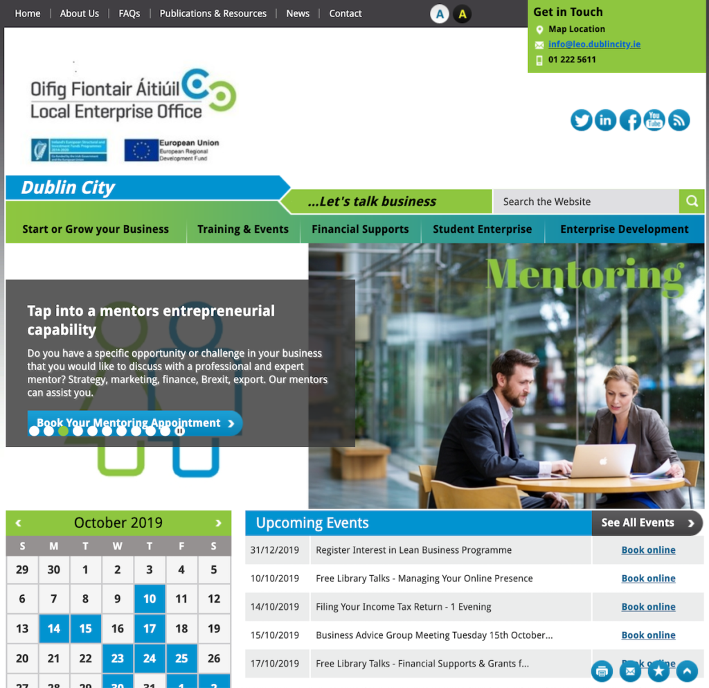Example of a busy, cluttered homepage layout.
