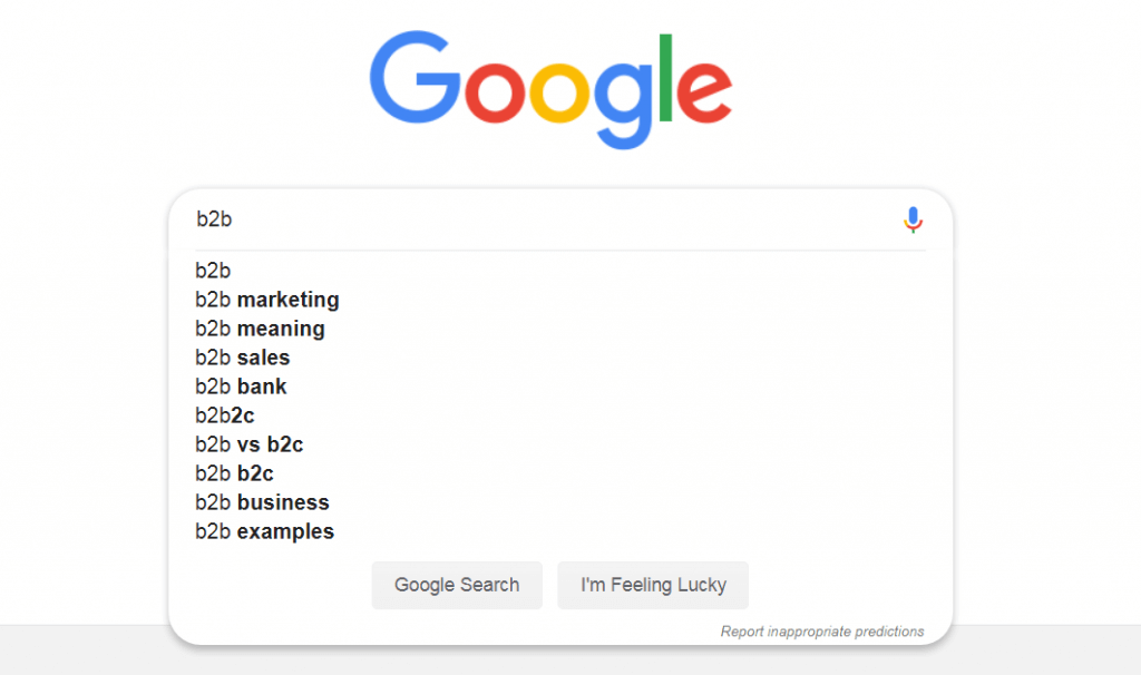 example of google autocomplete as a user-friendly search function.