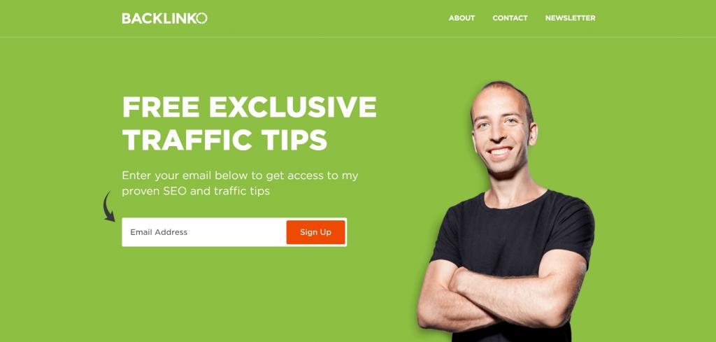 backlinko homepage