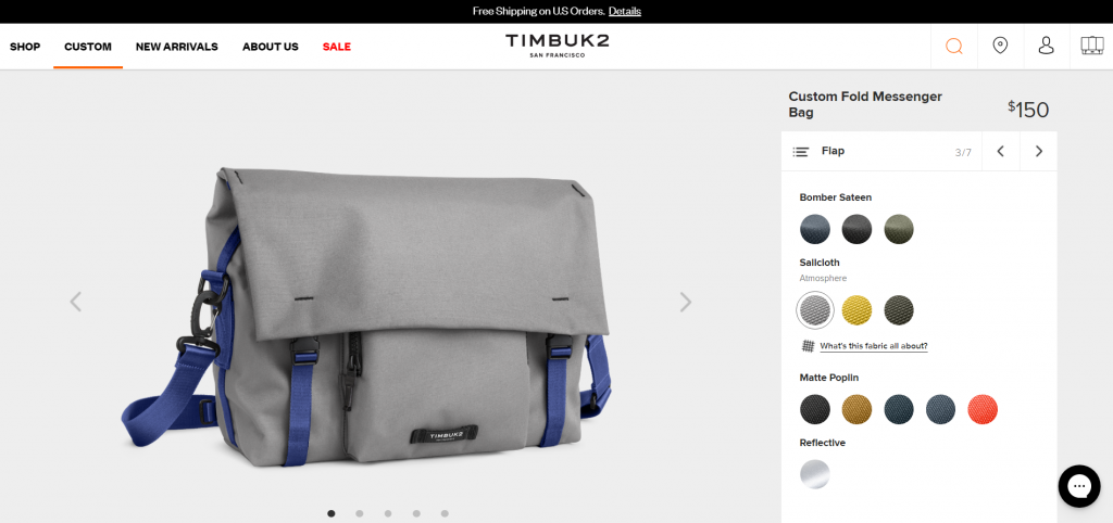 example of customizable ecommerce product.