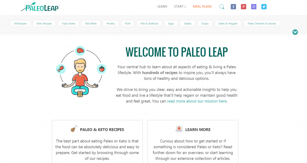 example of a homepage with calls to action that blend into the background.