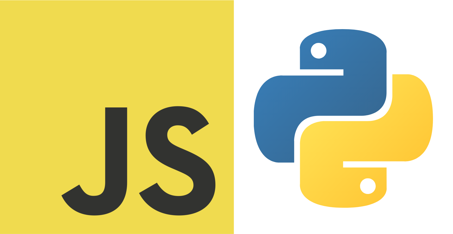 javascript vs python logos