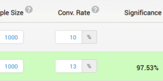 online testing platform showing confidence interval.