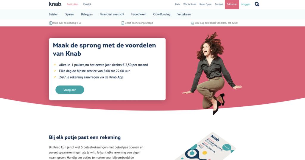 Knab.nl homepage