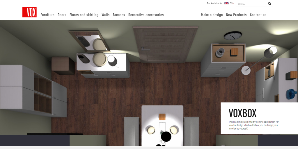 app to design furniture that later marries online and offline behavior.
