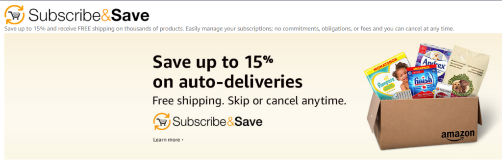 amazon subscribe and save example.