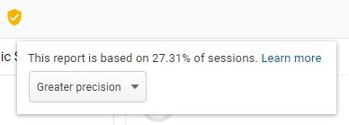 sampled data warning in google analytics.