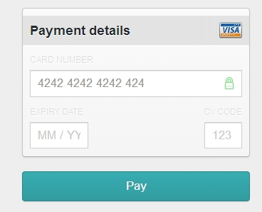skeuomorphic design for credit card entry.