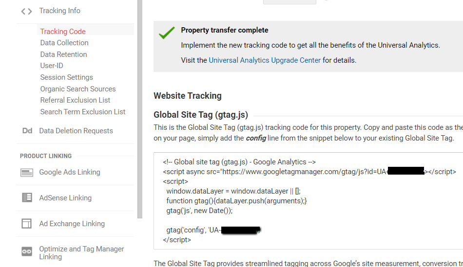 example of google analytics tag.