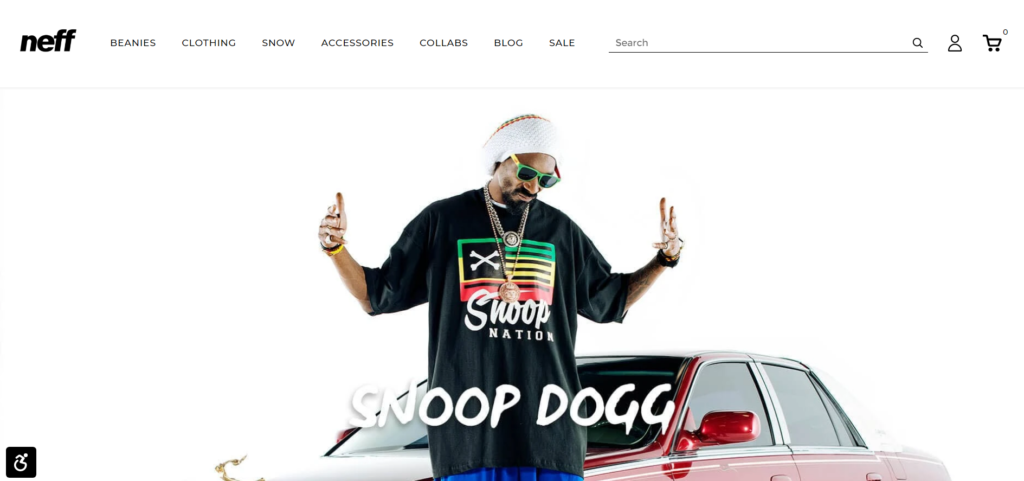snoop dog celebrity endorsement of neff headwear.