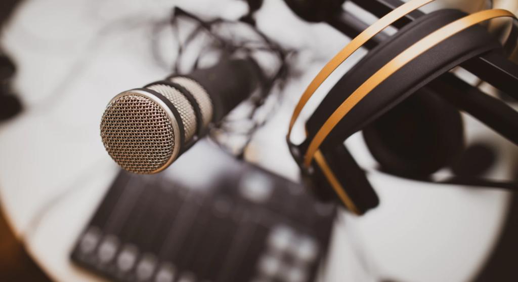 podcast equipment.
