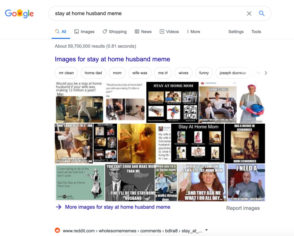 example of search result dominated by images.