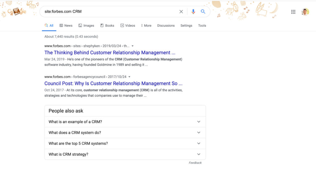 forbes crm site search.