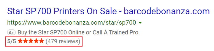 example of barcode extension on bing ads.