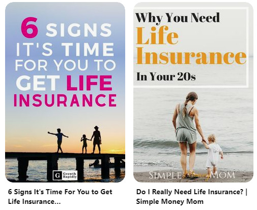 example of popular pins about insurance.
