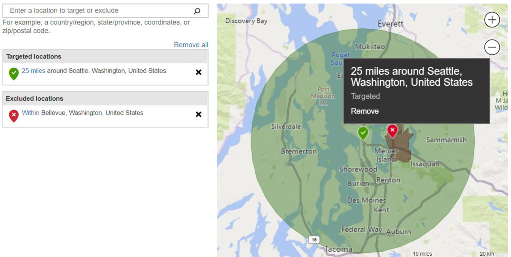 location targeting in bing ads.
