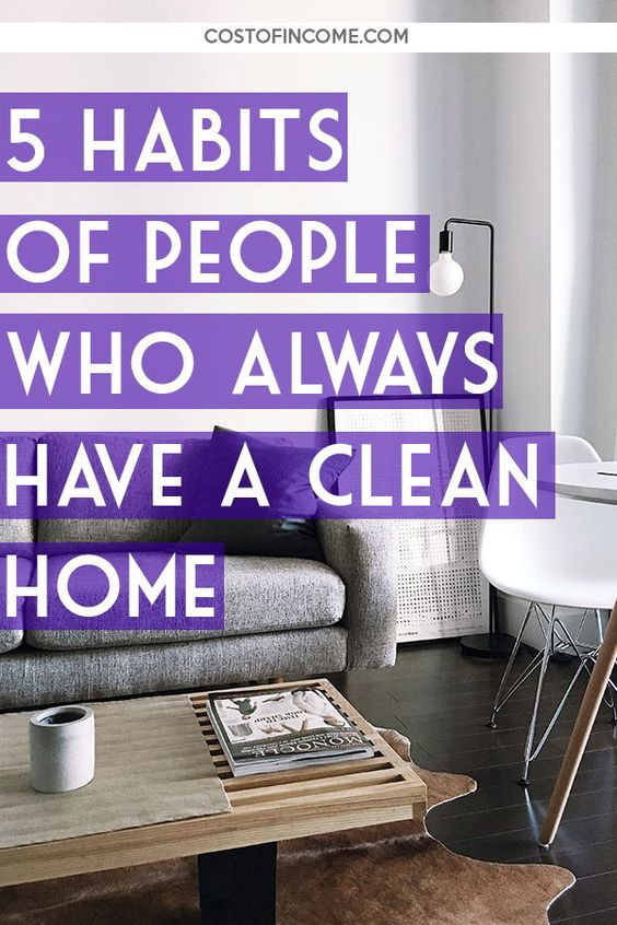 pin about clean homes.