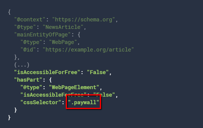 css selector paywall example.