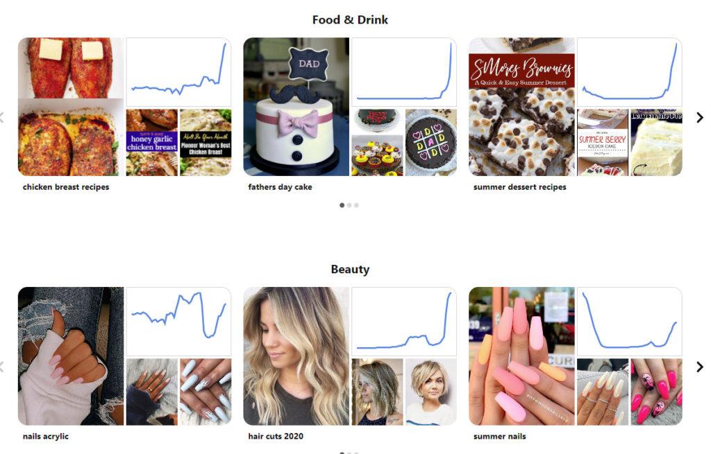 pinterest trends screenshot.