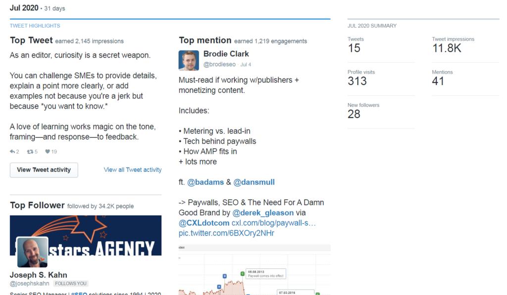 example of twitter analytics dashboard.
