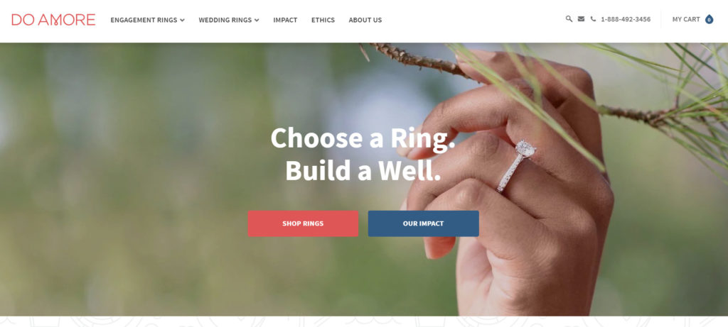 example of company that makes ethical wedding rings.