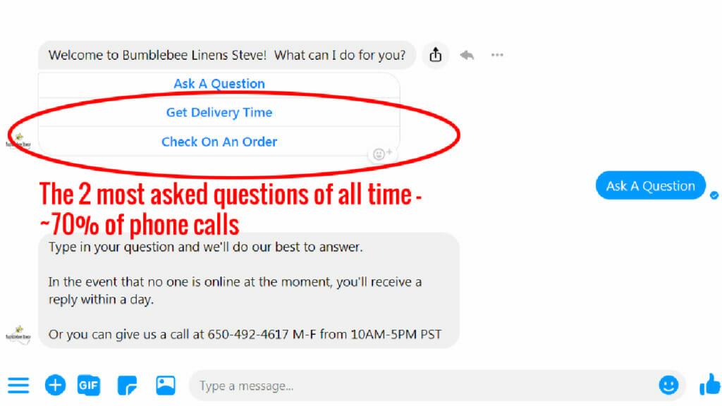Common customer service questions.