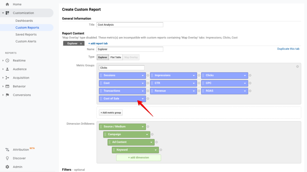 Create custom report.