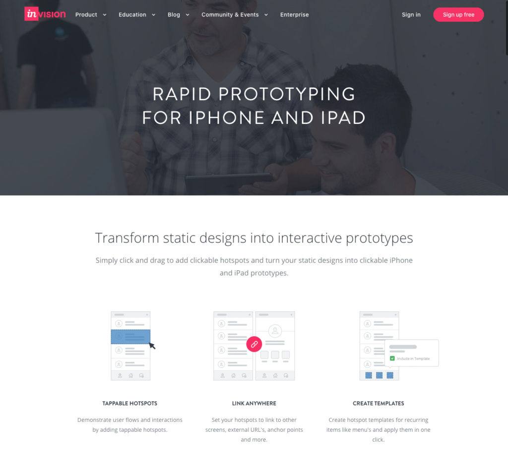 InVision product page.