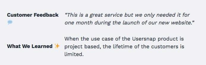 usersnap feedback.