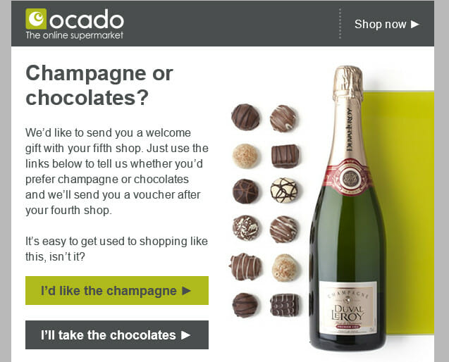 Ocado surprise and delight.