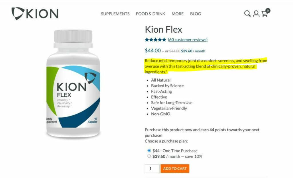 Kion Flex producgt.