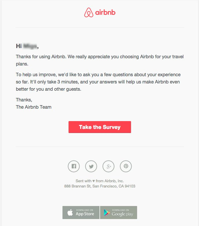 Airbnb example.