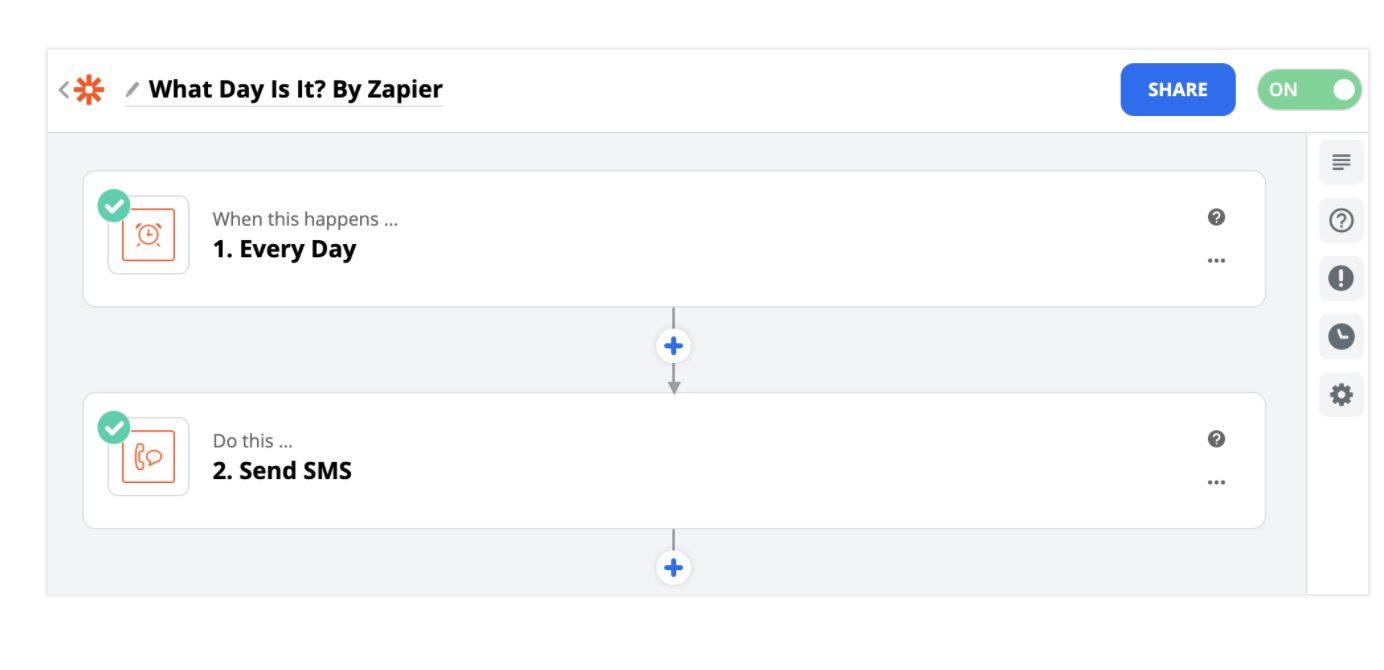 Example Zapier Zap.