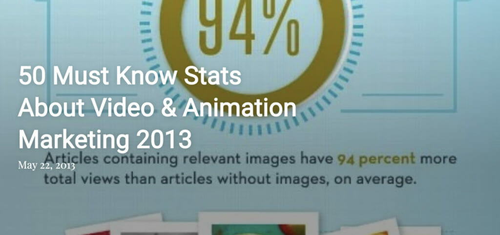 50 video stats you must know 2013.