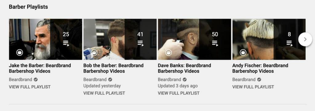 Barber playlists.