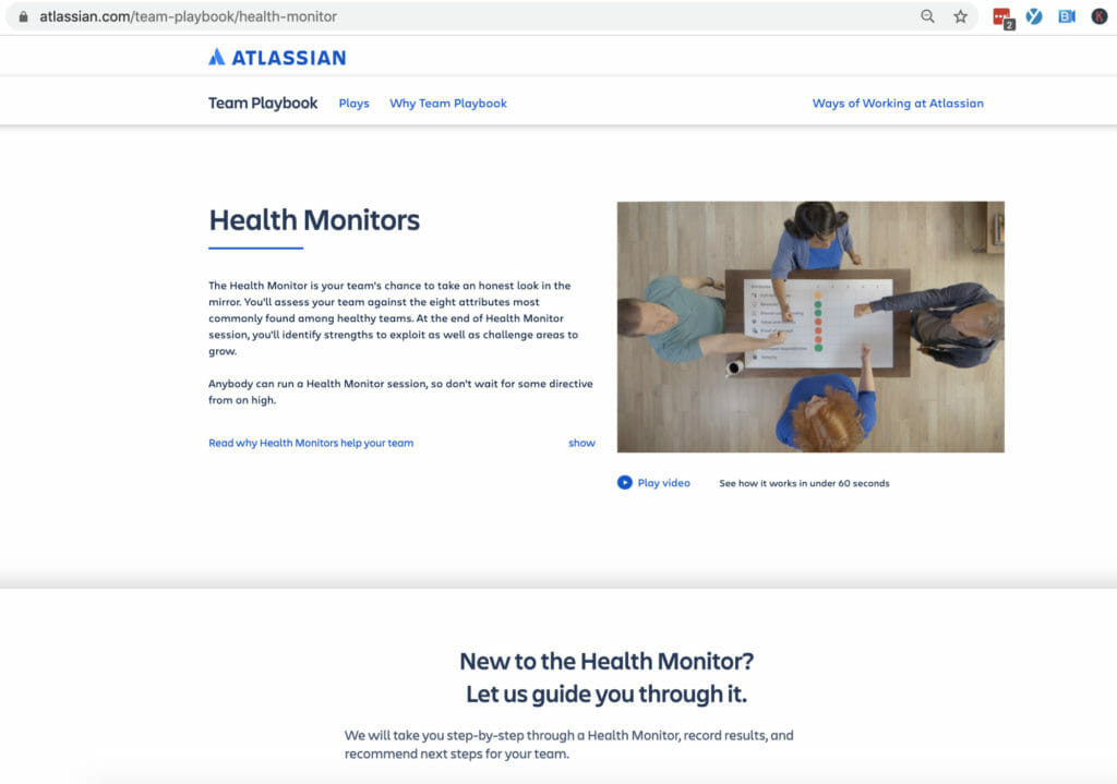 Atlassian health monitors.