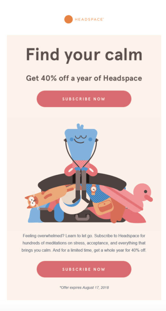 Headspace subscribe now.