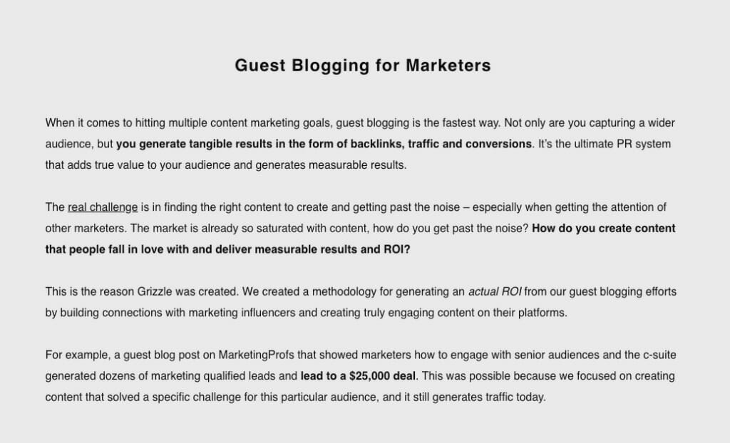 Guest blogging for marketers service.