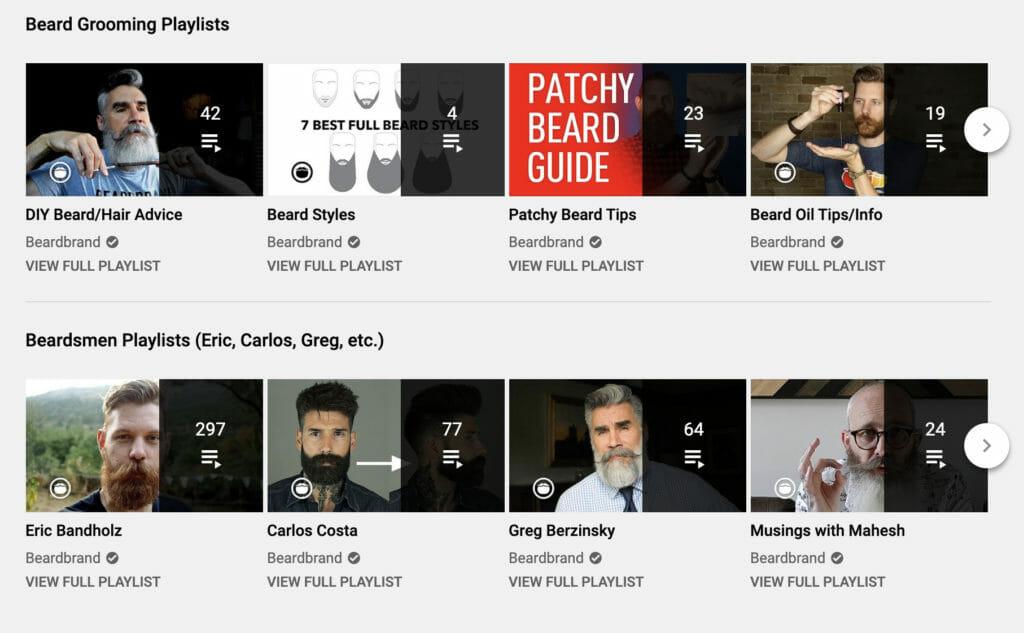 Beard grooming playlists.