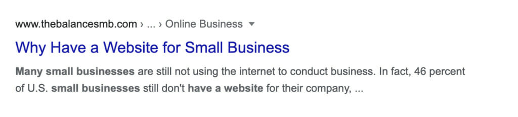 Why you need a website.