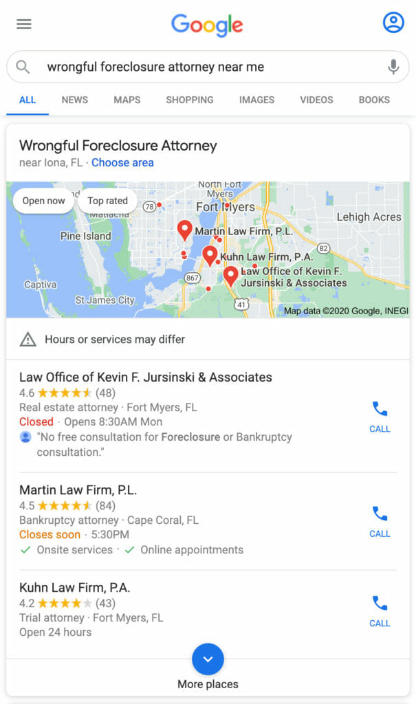 Google Map Pack.