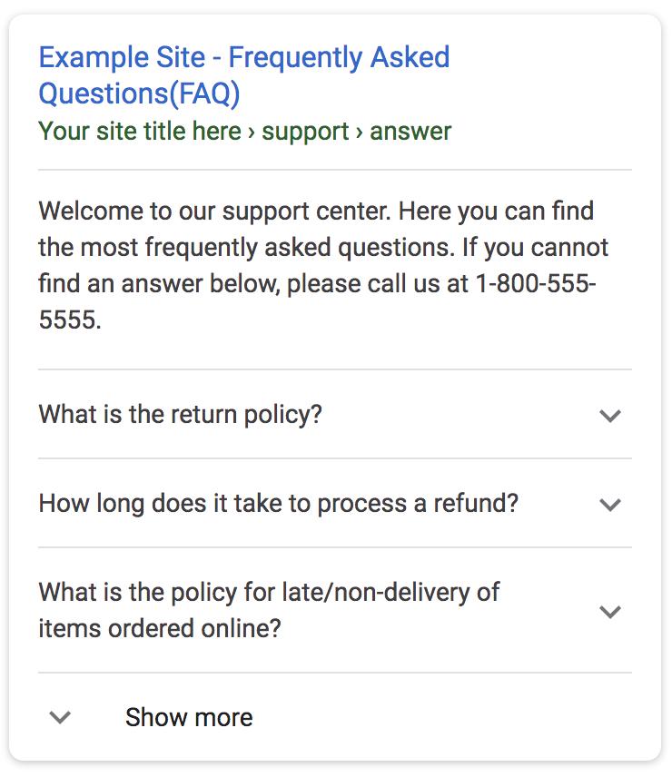 FAQ result.