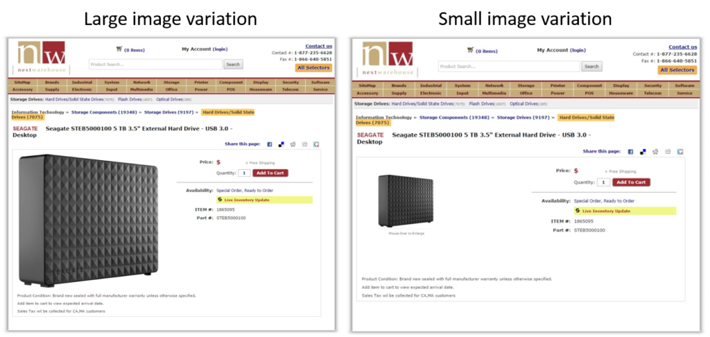 Hard drive size comparison.