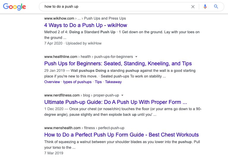 How to do a pushup.