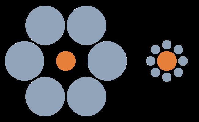 Circle optical illusion.